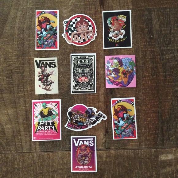 Vans Unique Sticker Lot Bundle Of 10 New